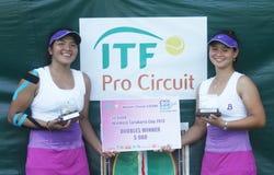 Asian double tennis Stock Photos