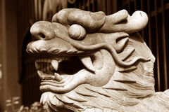 Asian dragon. Dragon statue in an asian temple Stock Image