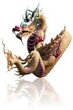 Asian dragon. On white background Stock Photo