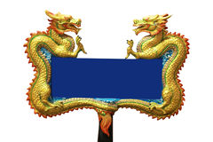 Asian dragon blank sign Royalty Free Stock Photography