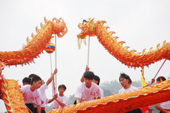 Asian  dragon dance Stock Image
