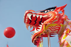 Asian dragon dance decoration Stock Photos