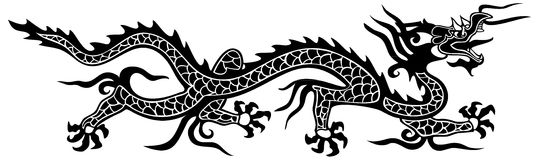 Asian dragon. Handmade asian dragon design style Stock Images