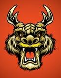 Asian Dragon Head Stock Photography