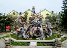 Asian dragons colorful sculpture Stock Image