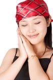 asian dreaming girl στοκ εικόνες