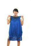 asian dress fitting new Στοκ φωτογραφία με δικαίωμα ελεύθερης χρήσης