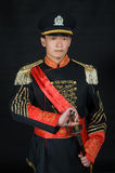 Asian dressed in Western-style clothing Royalty Free Stock Photo