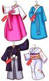 Asian dresses Royalty Free Stock Photos