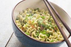 Asian dried ramen noodles close up Stock Images