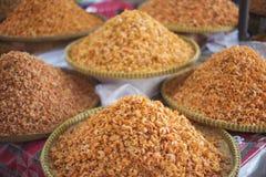 Asian dried shrimp in kep market cambodia Stock Photography
