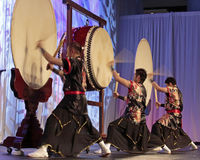 Asian Drumming Stock Image