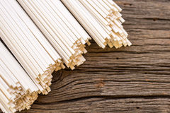 Asian dry noodle border Stock Photos