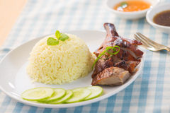 Asian duck rice Royalty Free Stock Image
