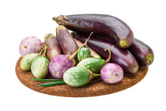 Asian egg-plant assortie Stock Photo