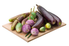 Asian egg-plant assortie Stock Photos