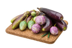 Asian egg-plant assortie Royalty Free Stock Image