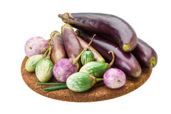 Asian egg-plant assortie Royalty Free Stock Images