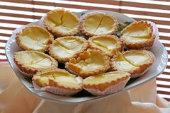 Asian egg tarts Stock Images