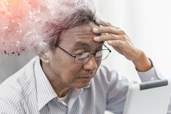 Asian elder lost memory from dementia or alzheimer