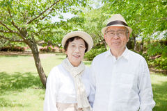 Asian elderly couple royalty free stock photo