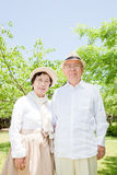 Asian elderly couple Stock Photography