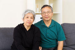 Asian elderly couple Stock Images