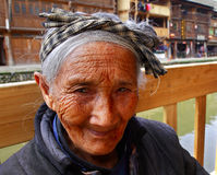 Asian elderly woman from the countryside of China, close-up port Royalty Free Stock Photography