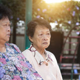 Asian elderly women Stock Photos