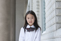 Asian elementary schoolgirl Stock Images