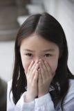 Asian elementary schoolgirl Stock Images