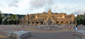 Asian elephant temple panorama Royalty Free Stock Images