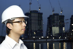 Asian engineer Royalty Free Stock Photo