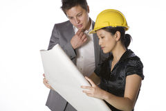 Asian engineer architect Stock Images