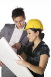 Asian engineer architect Royalty Free Stock Images