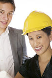 Asian engineer architect Stock Photos