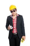 Asian engineer man Royalty Free Stock Photography