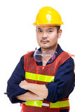 Asian engineer worker isolated Royalty Free Stock Photography