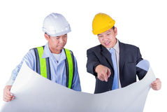 Asian engineer and worker leader Royalty Free Stock Photos