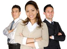 Asian entrepreneur and her business team Stock Photography