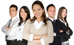 Asian entrepreneur and her business team Royalty Free Stock Images
