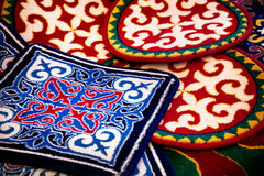 Asian ethnic carpet Stock Images