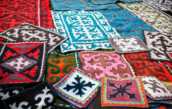 Asian ethnic carpets Royalty Free Stock Photo