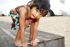 Asian ethnic child fun portrait Royalty Free Stock Photos