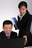 Asian Executive and Secretary stock image
