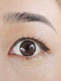 Asian eye. Close up asian hazel eye royalty free stock photos