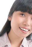 Asian face. Portrait of full face asian Royalty Free Stock Photo