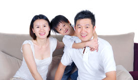 Asian family. Indoor portrait of asian family Stock Photography