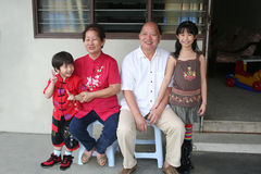 Asian Family. Portrait of an Asian family during Chinese New Year Stock Photo