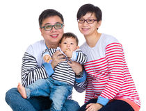 Asian family with baby son Royalty Free Stock Photos